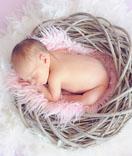Our clients - Baby sleeping inside a bird nest