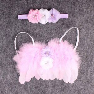 Newborn Photography Prop - Baby pink angel wings for girls