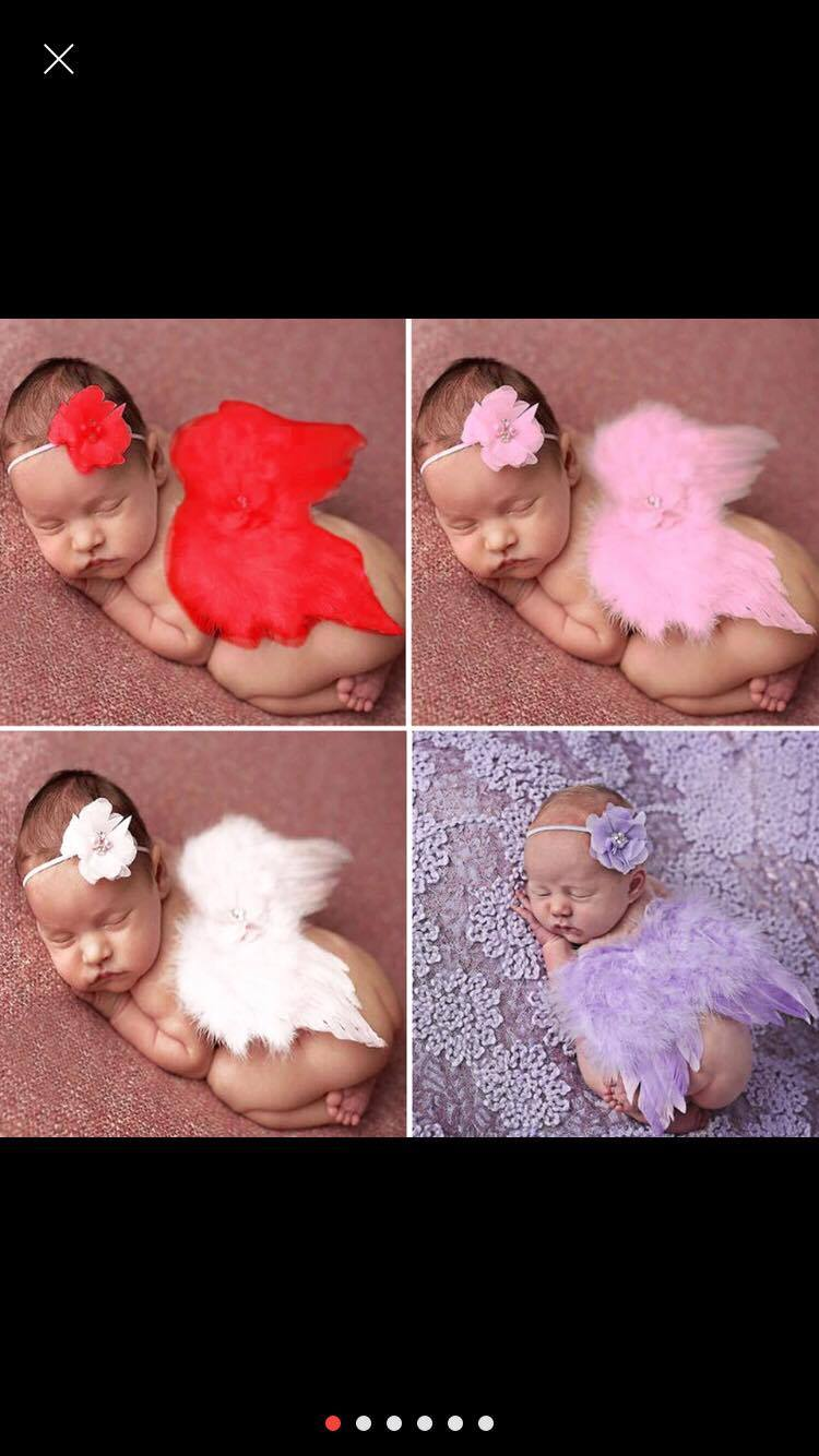 Newborn Photography Prop - Babies wearing angel wings