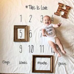 Newborn Photography Prop - Baby boy calendar