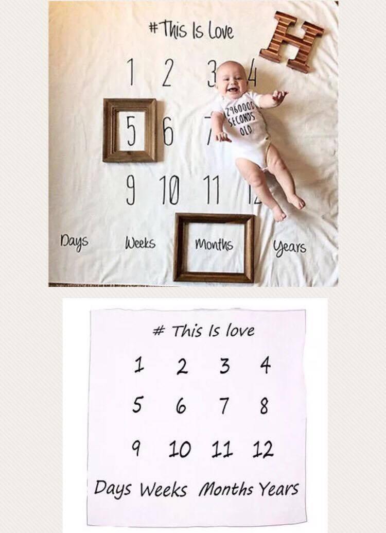 Newborn Photography Prop - Baby Calendar