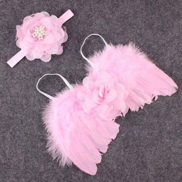 Newborn Photography Prop - Baby girl pink angel wings