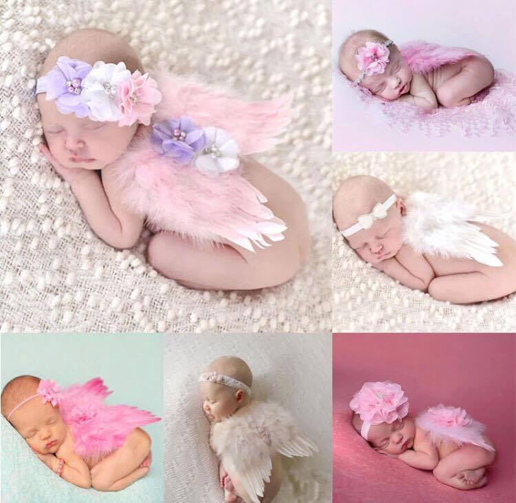 Newborn Photography Prop - Baby girls with angel wings