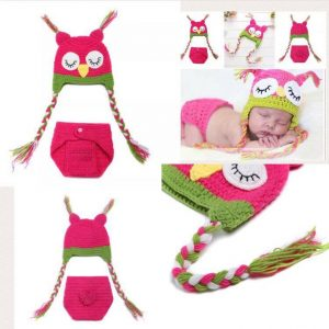 Newborn Photography Prop - Baby owl hats and underwear
