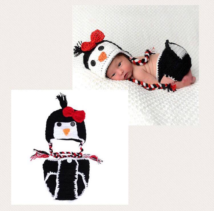 Newborn Photography Prop - Baby Penguin Costume  sc 1 st  Newborn Photography Props & Newborn Baby Penguin Crochet Hat and Diaper Cover Costume u2013 Edge ...