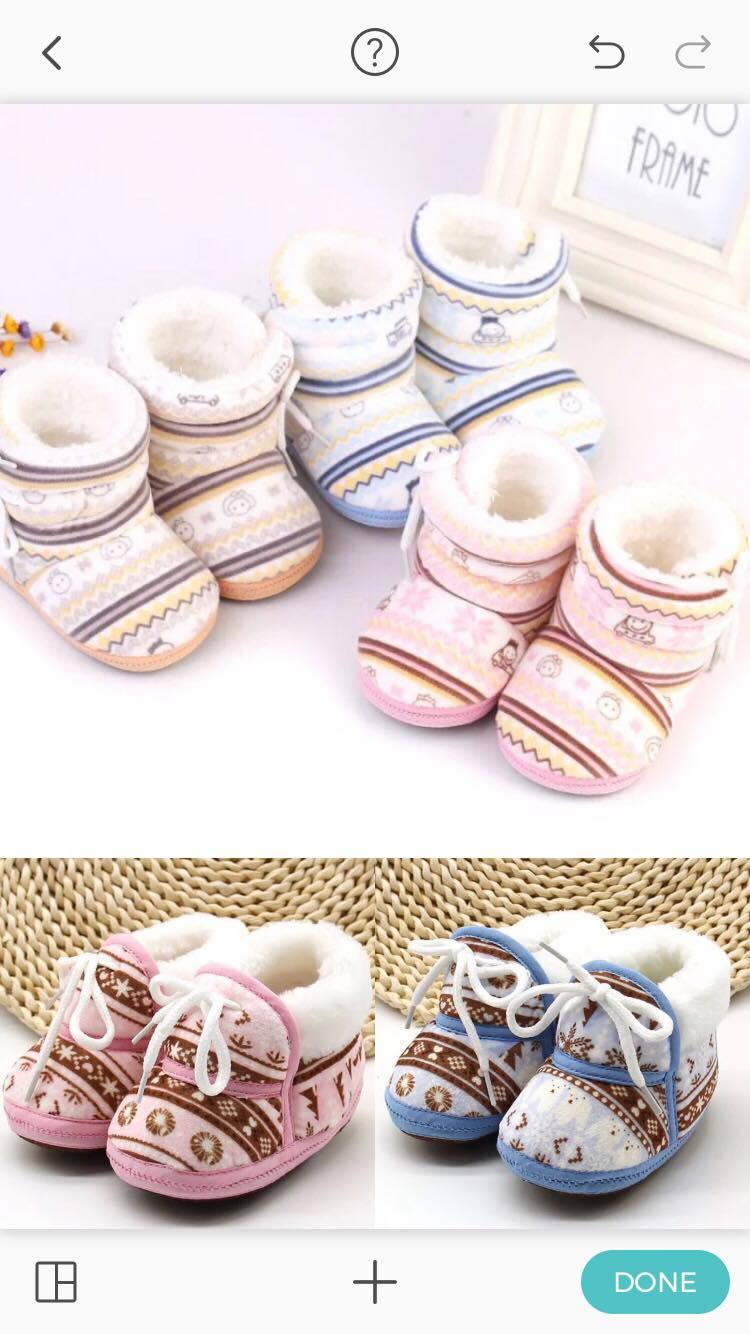 Newborn Photography Prop - Baby shoes for girls and boys
