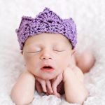 newborn-photography-prop-purple-hat-closed-eyes
