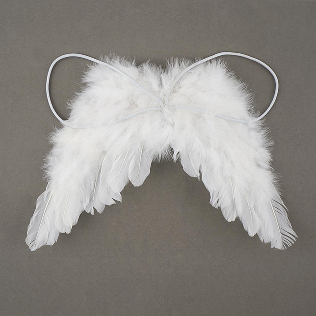 Baby white angel feather wings