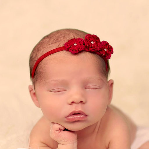 Baby with Red Headbands