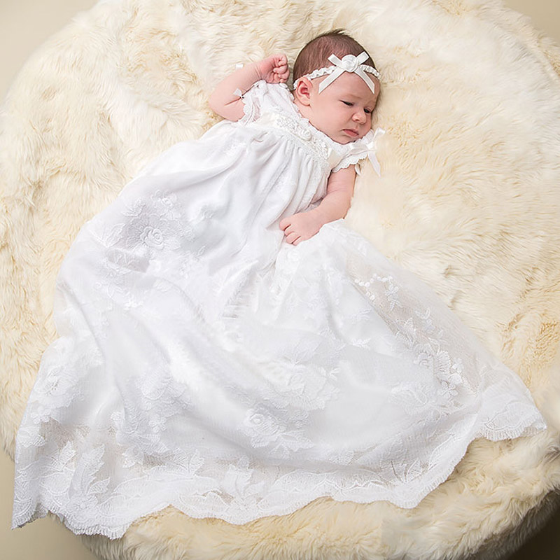 Baby Girl in her Christening white gown